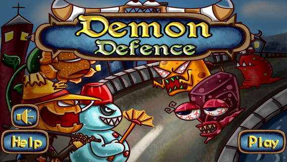 Demon Defence title screen