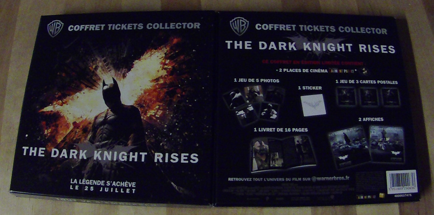 Coffret Ticket Collector Batman TDKR