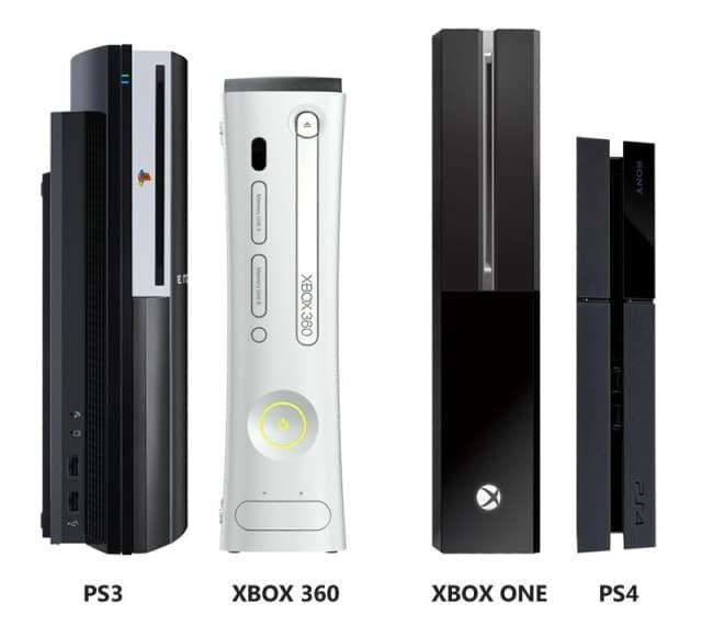 Xbox360 et One contre Playstation 3 et 4