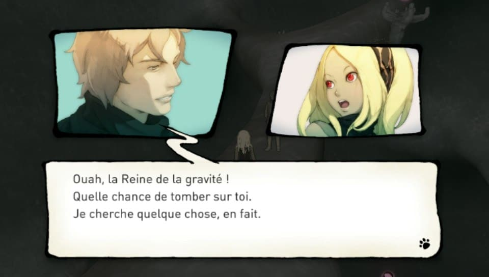 Dialogue dans Gravity Rush