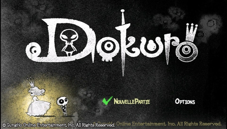 Dokuro Title Screen