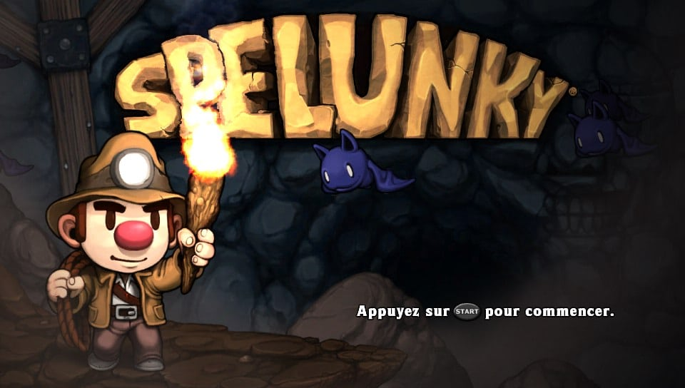 Spelunky Title Screen