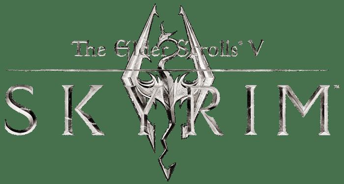 The Elder Scrolls V : Skyrim Logo Blanc